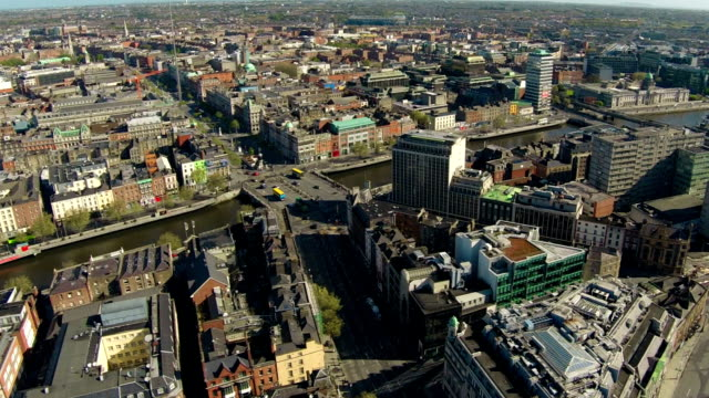 Dublin aerial video of city center video