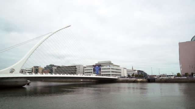 Dublin Samuel Beckett Bridge And North Wall Quay video