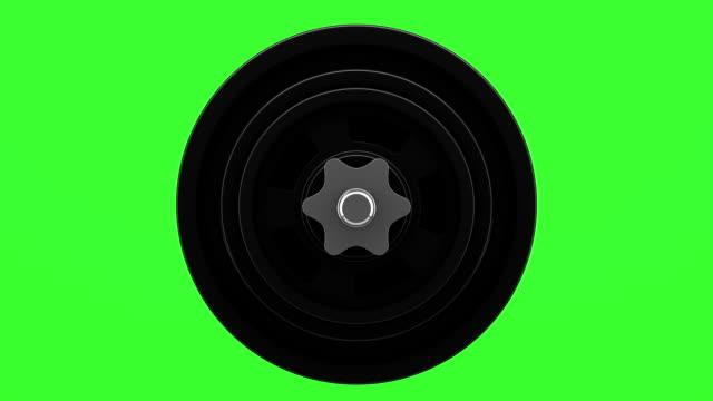 hantelschleife drehen auf grünem chromakey-hintergrund - hantel stock-videos und b-roll-filmmaterial