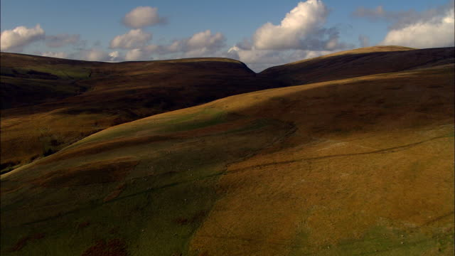 Dumfries And Galloway Landscape  - Aerial View - Scotland, United Kingdom Over hills,  through the Scottish Lowlands over a loch galloway scotland stock videos & royalty-free footage