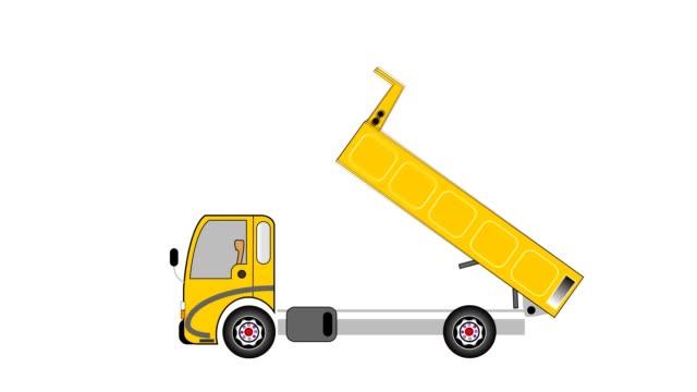 Dump truck animation video