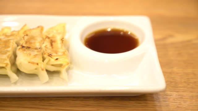 Dumplings fries Dumplings fries korean culture stock videos & royalty-free footage