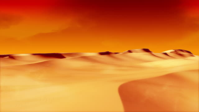 CG Dunes Scene With Animated Clouds Version video