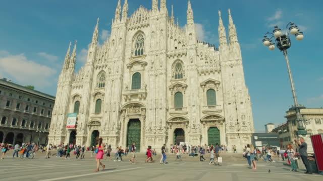 Duomo di Milano church, in Italy Duomo di Milano church, in Italy neoclassical architecture stock videos & royalty-free footage