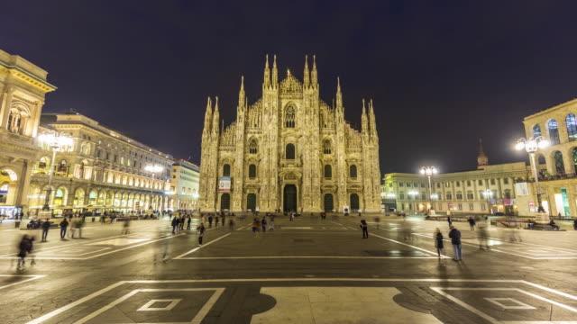 Dom Mailand City bei Sonnenuntergang, Zeitraffer – Video