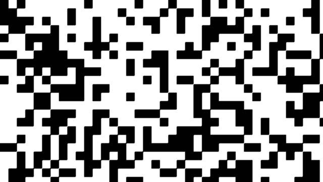 vidéos et rushes de signal numérique bichromie - plein cadre