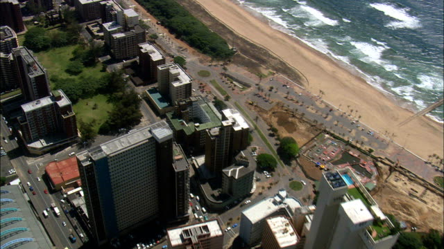 Durban  - Aerial View - KwaZulu-Natal,  eThekwini Metropolitan Municipality,  Ethekwini,  South Africa This clip was filmed by Skyworks on HDCAM SR 4:4:4 using the Cineflex gimbal. KwaZulu-Natal,  eThekwini Metropolitan Municipality,  Ethekwini South Africa natal stock videos & royalty-free footage
