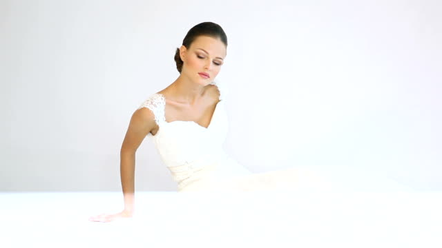 during shooting models in the studio - wedding fashion stock videos and b-roll footage