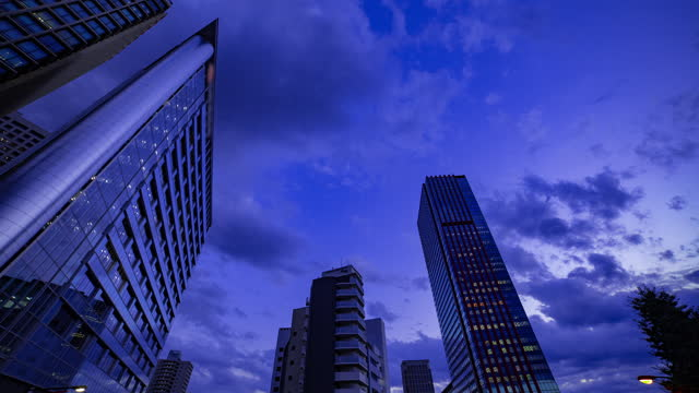 Video A dusk timelapse of cityscape near the building in Tokyo wide shot.