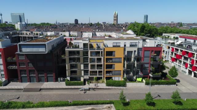 Dusseldorf Germany aerial video series