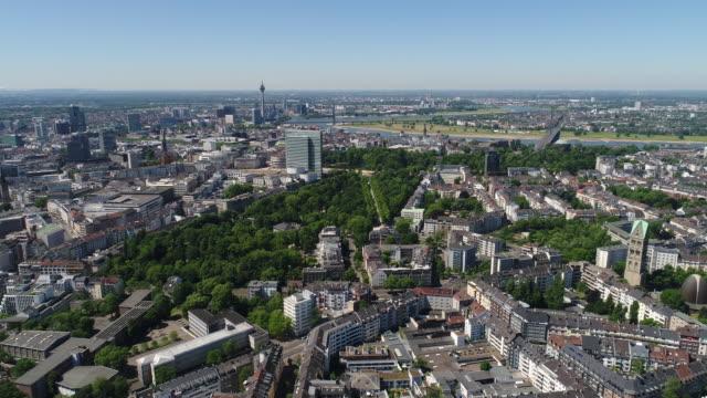 düsseldorf deutschland aerial video-serie - köln stock-videos und b-roll-filmmaterial