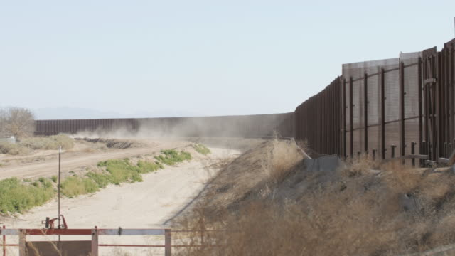 Dust Blows Near the US and Mexico Border video
