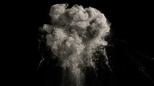 Dust explosion Large dust explosion with a reverse playback. With alpha channel and loop. High details. land stock videos & royalty-free footage