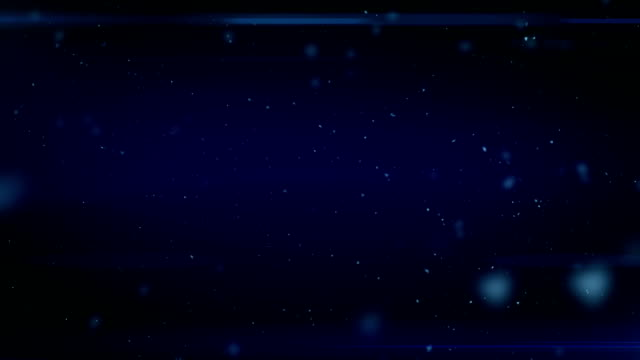 Dust in Space. Dark Blue Background with Flares. Looped. HD 1080. video