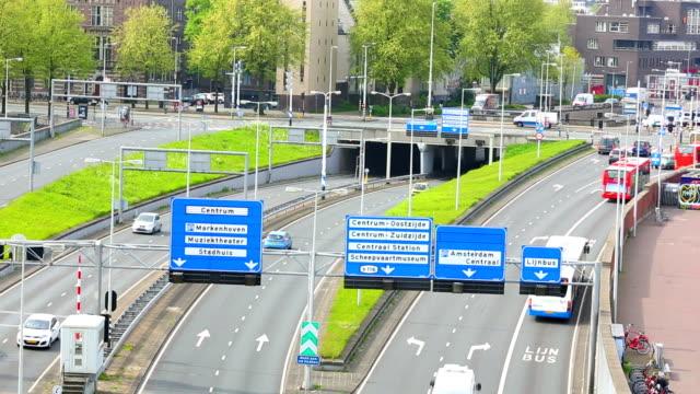 Dutch highway in Amsterdam video