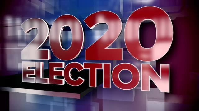 ダイナミック 2020年選挙ニュース タイトル ページ背景プレート - 選挙点の映像素材/bロール