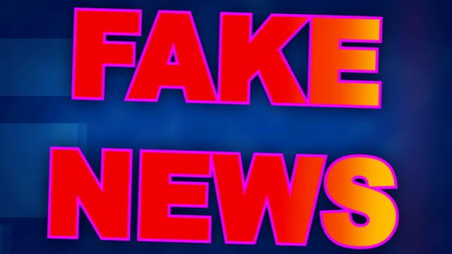 stockvideo's en b-roll-footage met dynamische achtergrondanimatie van het titelblad fake nieuws - magazine mockup
