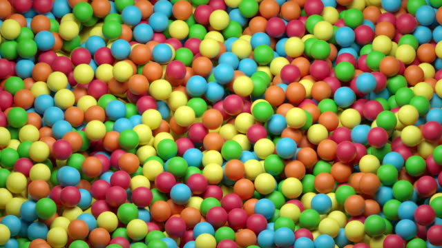 vidéos et rushes de piscine dynamique de boule (colorée) - balle ou ballon