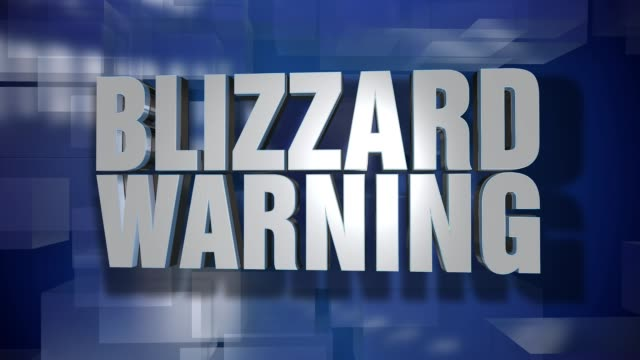 Dynamic Blizzard Warning News Transition and Title Page Background Plate video