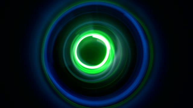 Dynamic circles light painting seamless loop video