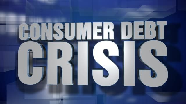 Dynamic Consumer Debt Crisis News Transition and Title Page Background Plate video