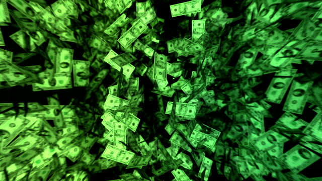 Dynamic Dollar Bill Background video