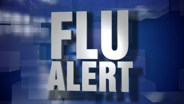 Dynamic Flu Alert Transition and Title Page Background Plate video
