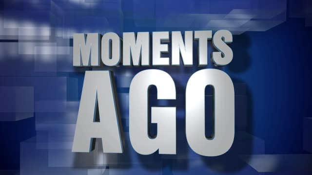 Dynamic Moments Ago News Transition and Title Page Background Plate video