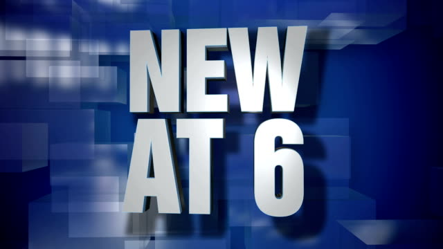 Dynamic New at 6 News Transition and Title Page Background Plate video