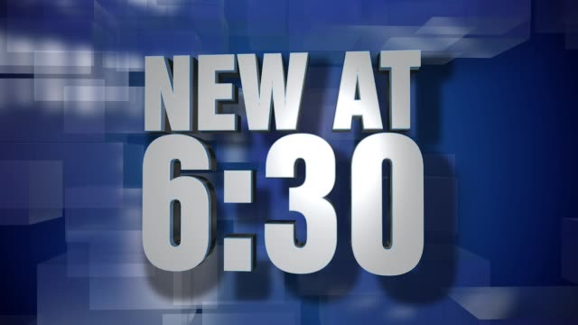 Dynamic New at 6:30 News Transition and Title Page Background Plate video