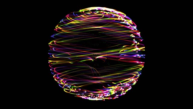 3 dynamic red green blue rotational cycle motion - spirale ricciolo video stock e b–roll