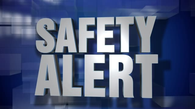 Dynamic Safety Alert Transition and Title Page Background Plate video