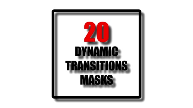 20 dynamic transition shape masks. ultimate set of transitions for business presentation or product promo video. simple and stylish shape masks for trendy slide theme. - good bye stock videos and b-roll footage