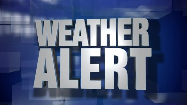 Dynamic Weather Alert Transition and Title Page Background Plate video
