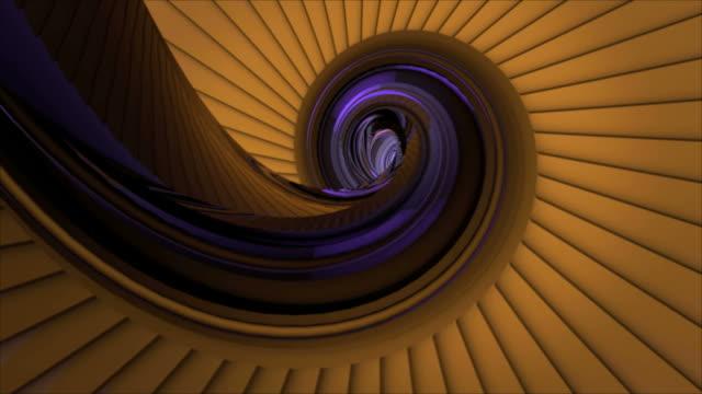 vídeos de stock e filmes b-roll de dinâmica em concha de caracol amarelo animado em torno do objecto - bugio