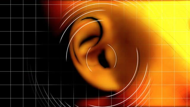 Ear hearing waves video