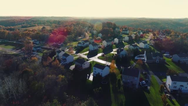 Early Evening Establishing Shot of Pennsylvania Neighborhood video