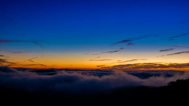 vidéos et rushes de matin de l'aube à haute altitude sur monts des appalaches - nord