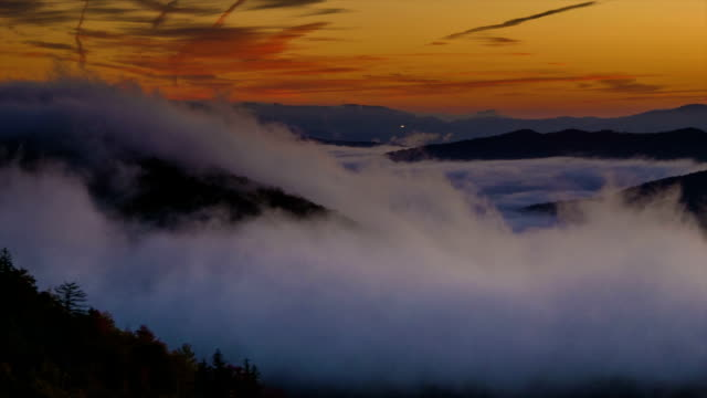 Early Morning Pan over the Majestic Blue Ridge Mountains video