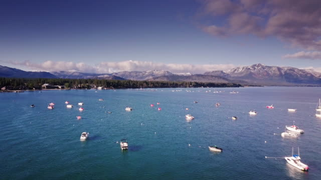 Early Winter in Lake Tahoe - Aerial View