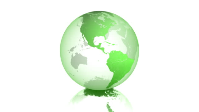 vídeos de stock e filmes b-roll de terra verde girar negócios vectorized 01 - green world