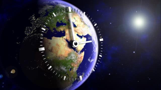 Earth 02 Clock video
