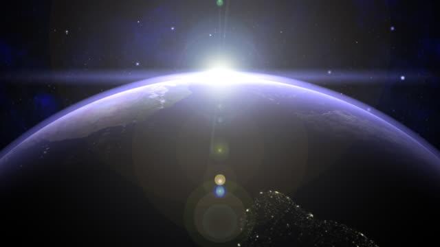 earth 02 восходом солнца на экваторе - линия экватора стоковые видео и кадры b-roll