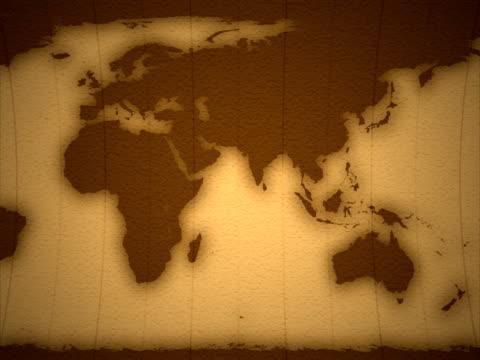 Earth 2D, seamless Loop, NTSC video