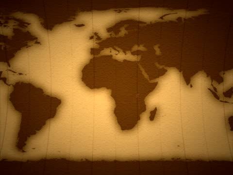Earth 2D, seamless Loop, PAL video