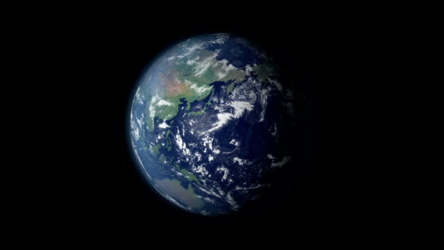 Video Earth 360 rotation and zoom centered on Canada