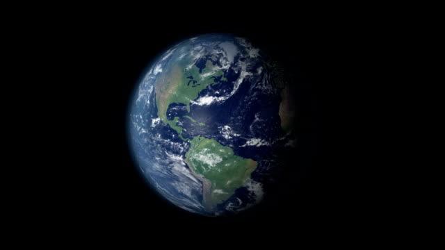 stockvideo's en b-roll-footage met earth 360 rotation and zoom centered on saudi arabia - riyad