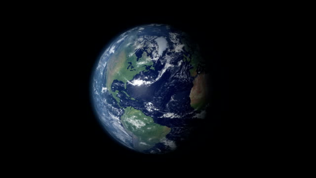 Earth 360 rotation and zoom centered on Syria View on the globe rotating 360°. Zooming in on Middle East and on Syria.  damascus stock videos & royalty-free footage