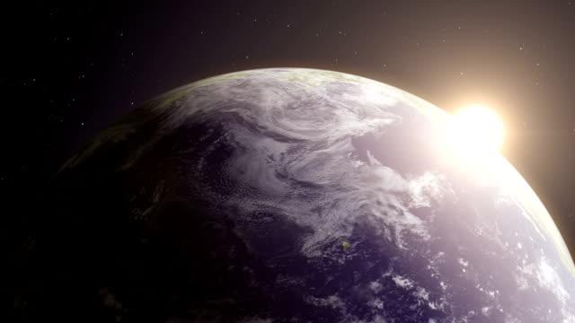 jorden 6 - roterande jordglob videobakgrund loop - earth from space bildbanksvideor och videomaterial från bakom kulisserna