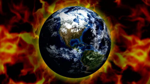 Earth and Flames Background, Loop video